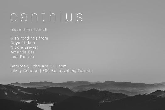 Canthius Issue 3 Launch in Toronto